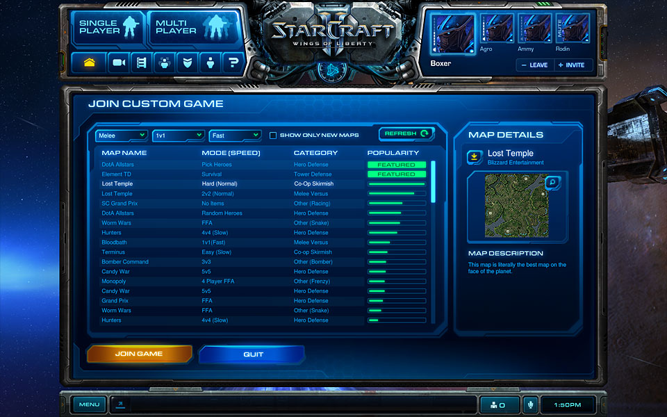 Chat in Starcraft 2